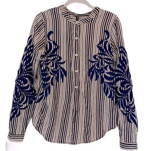 Plenty By Tracy Reese Pull Over Embroidered top S